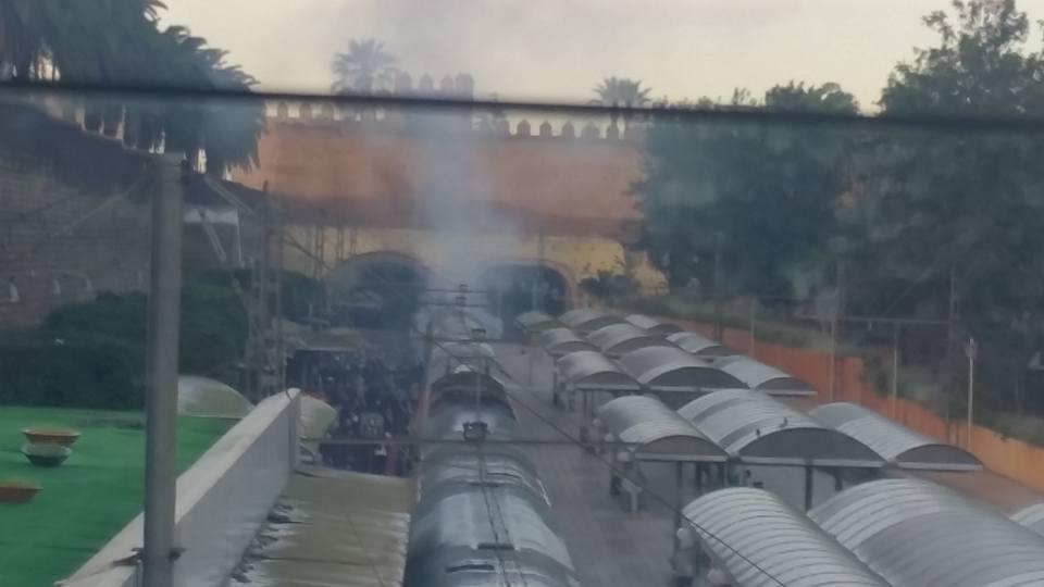 دخان كثيف باحد المقصورات بالقطار المتوجه من الرباط الی الدار البيضاء