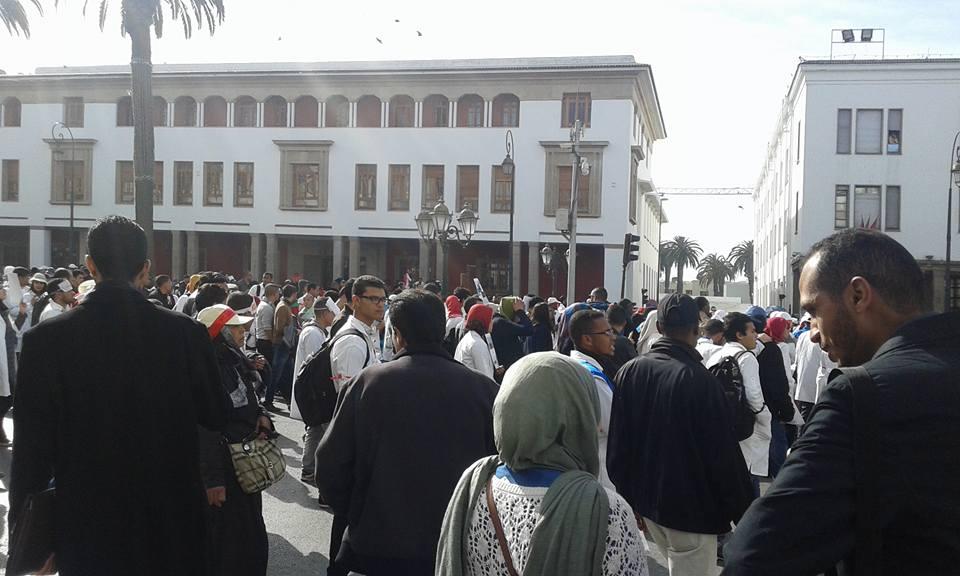 بالصور: مسيرة الاساتذة بالرباط