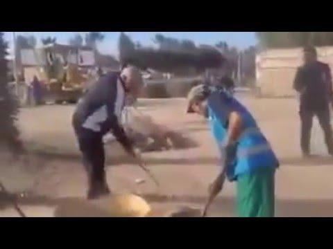 عمدة و رئيس المجلس البلدي لأكادير ينظفون الشوارع بأنفسهم