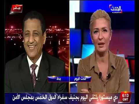 وزير يغازل مذيعة « العربية » على الهواء