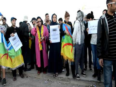 خطير: أمازيغ يحرقون صور بن كيران في اكادير