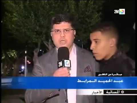 شاب يقاطع مراسل دوزيم بالحسيمة