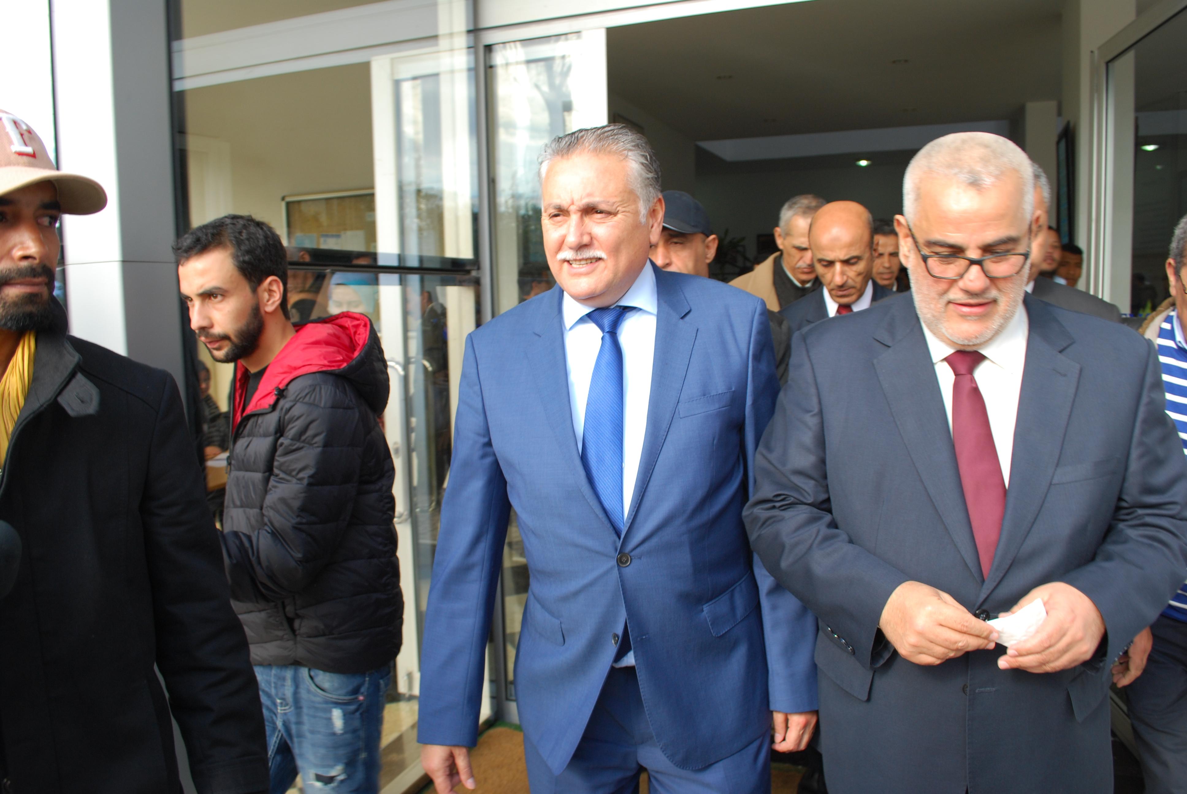 نبيل بنعبد الله وبن كيران ووزراء يفتتحون الجامعة الشتوية لحزب التقدم والاشتراكية