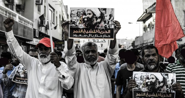 عشرات الشيعة السعوديين يتظاهرون احتجاجا على إعدام النمر