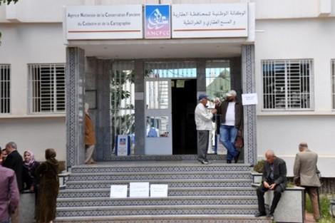 مستخدمي المحافظة العقارية بمدينة تيفلت يحتجون