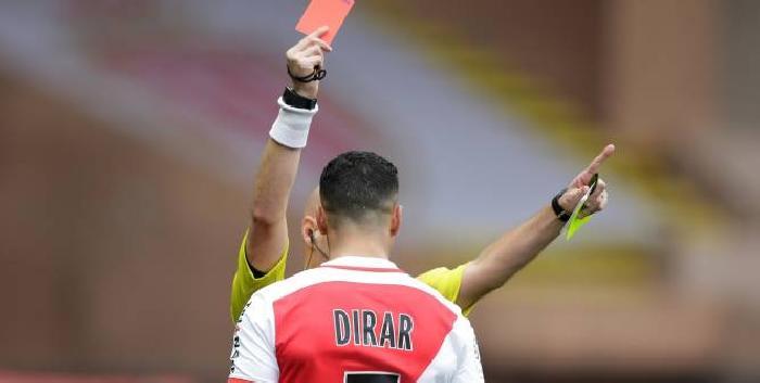 موناكو مستاء من طرد درار المجاني أمام نيس في الدوري الفرنسي