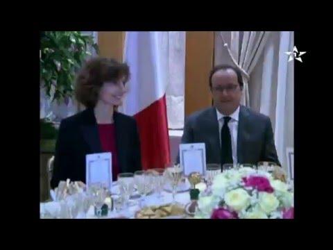 مأدبة عشاء بين الملك محمد السادس و هولند