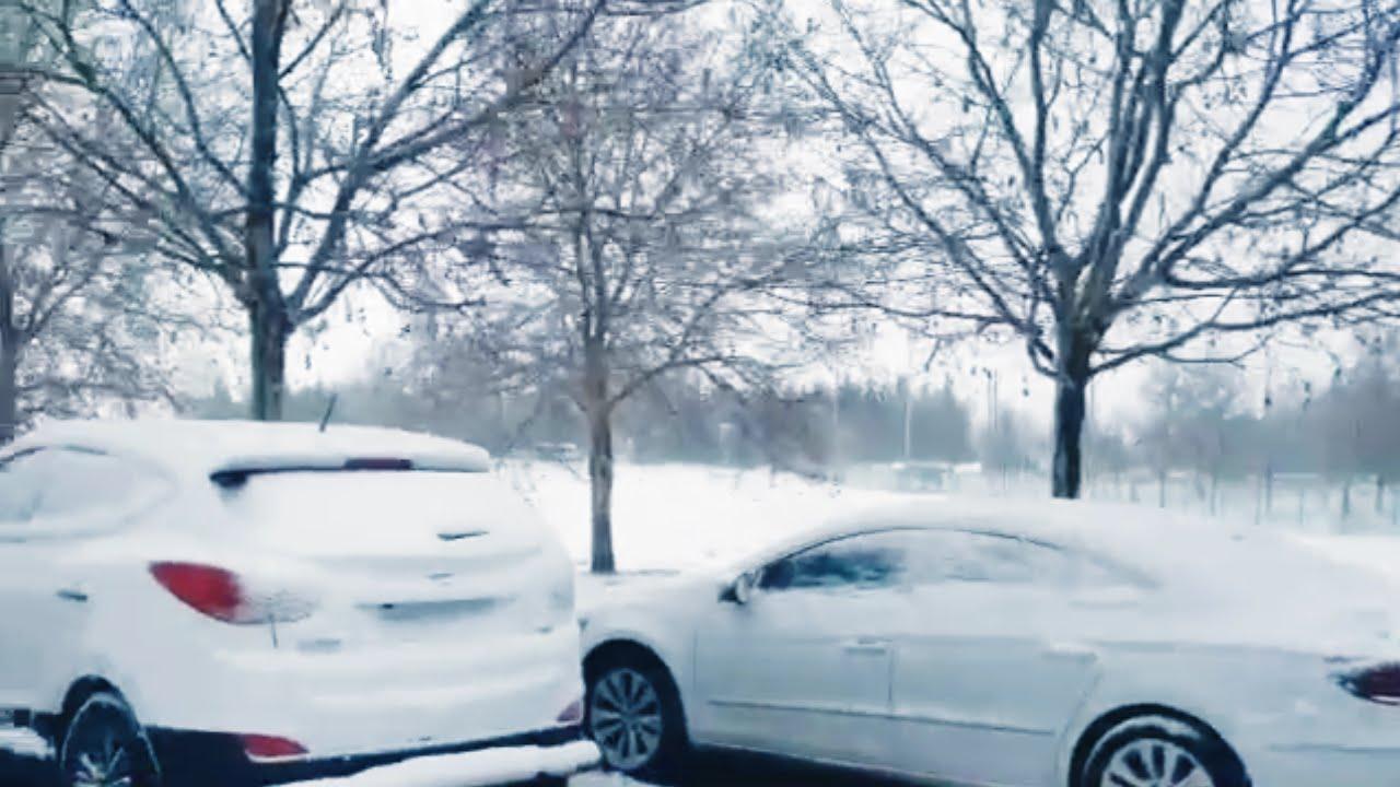 شاهد ما شهدته إفران من توقف بسبب الثلوج !