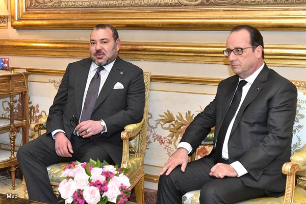 الملك محمد السادس يزور فرنسا ويلتقي هولاند ويلتقي الجالية المغربية