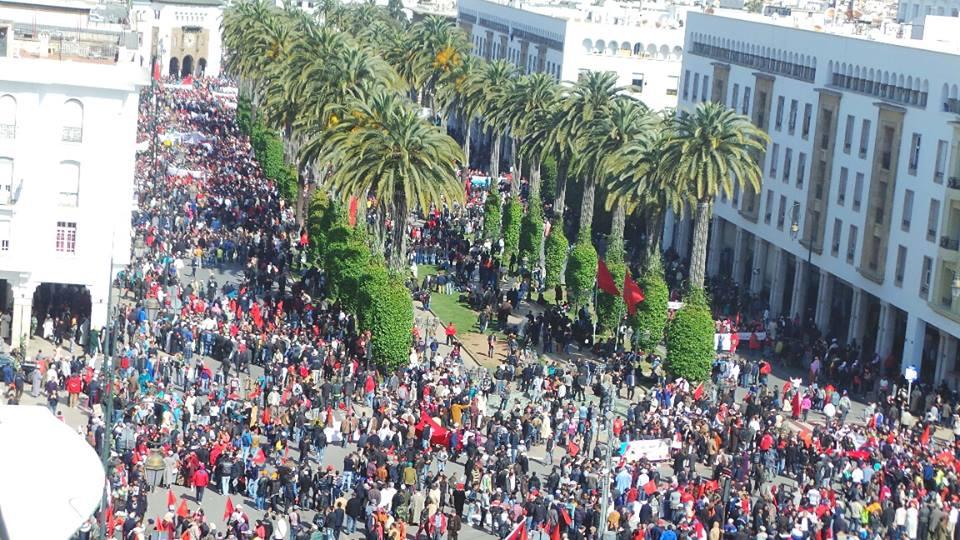 مسيرة الرباط المليونية تعري غشاء بكارة العدل والاحسان والنهج والجمعية المغربية لحقوق الانسان