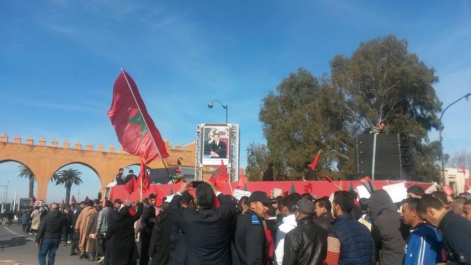 المغاربة بصوت قوي في اقوى مسيرة بالرباط..بان كي مون يا عدو الملك عندو شعبو