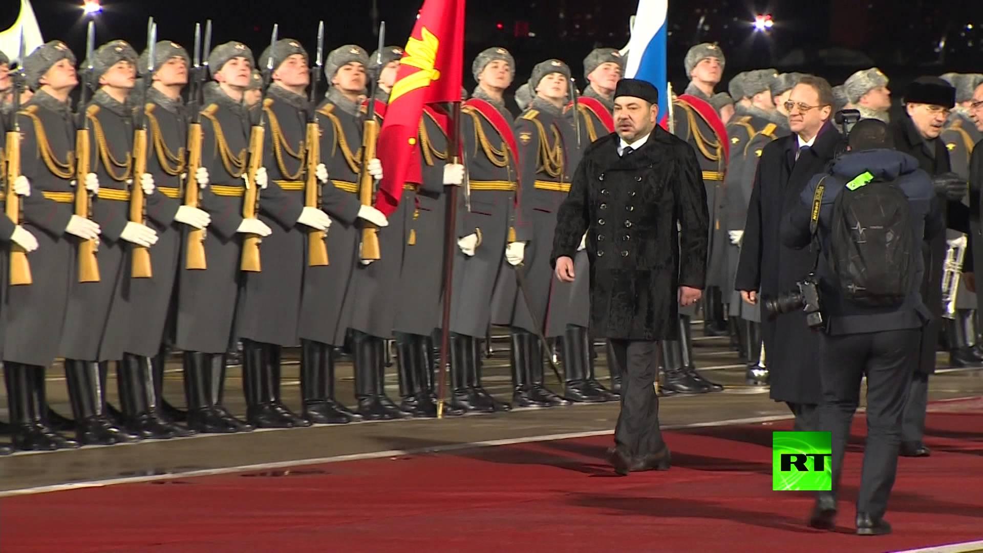 وصول العاهل المغربي الملك محمد السادس إلى موسكو
