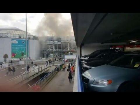 الصور الاولى لانفجار مطار بروكسيل