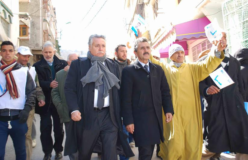 نبيل بنعبد الله ينزل بتقله في اطلاق الحملة الانتخابية التشريعية بافران