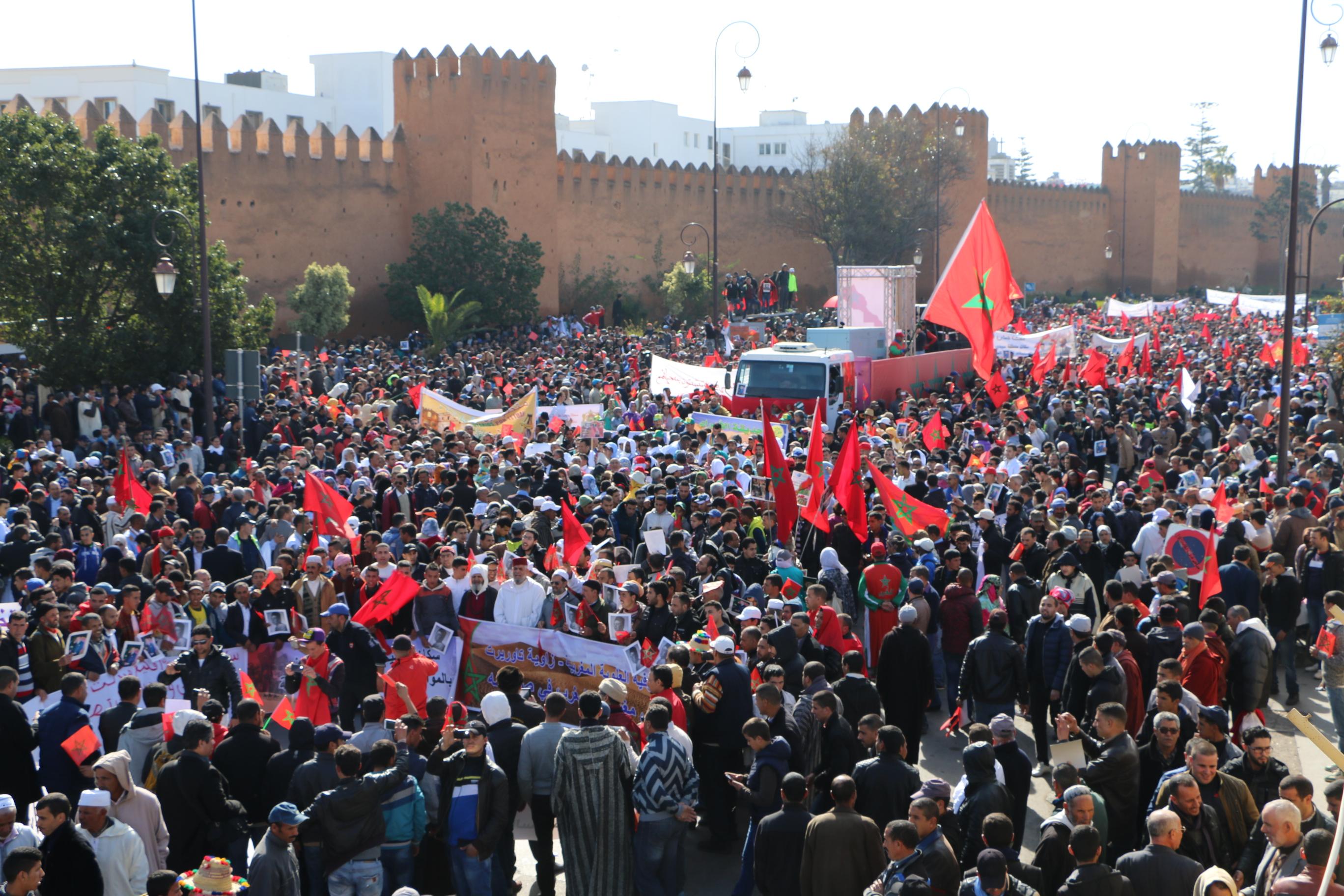بعد مسيرة الرباط….مسيرة كبرى في عاصمة الصحراء العيون