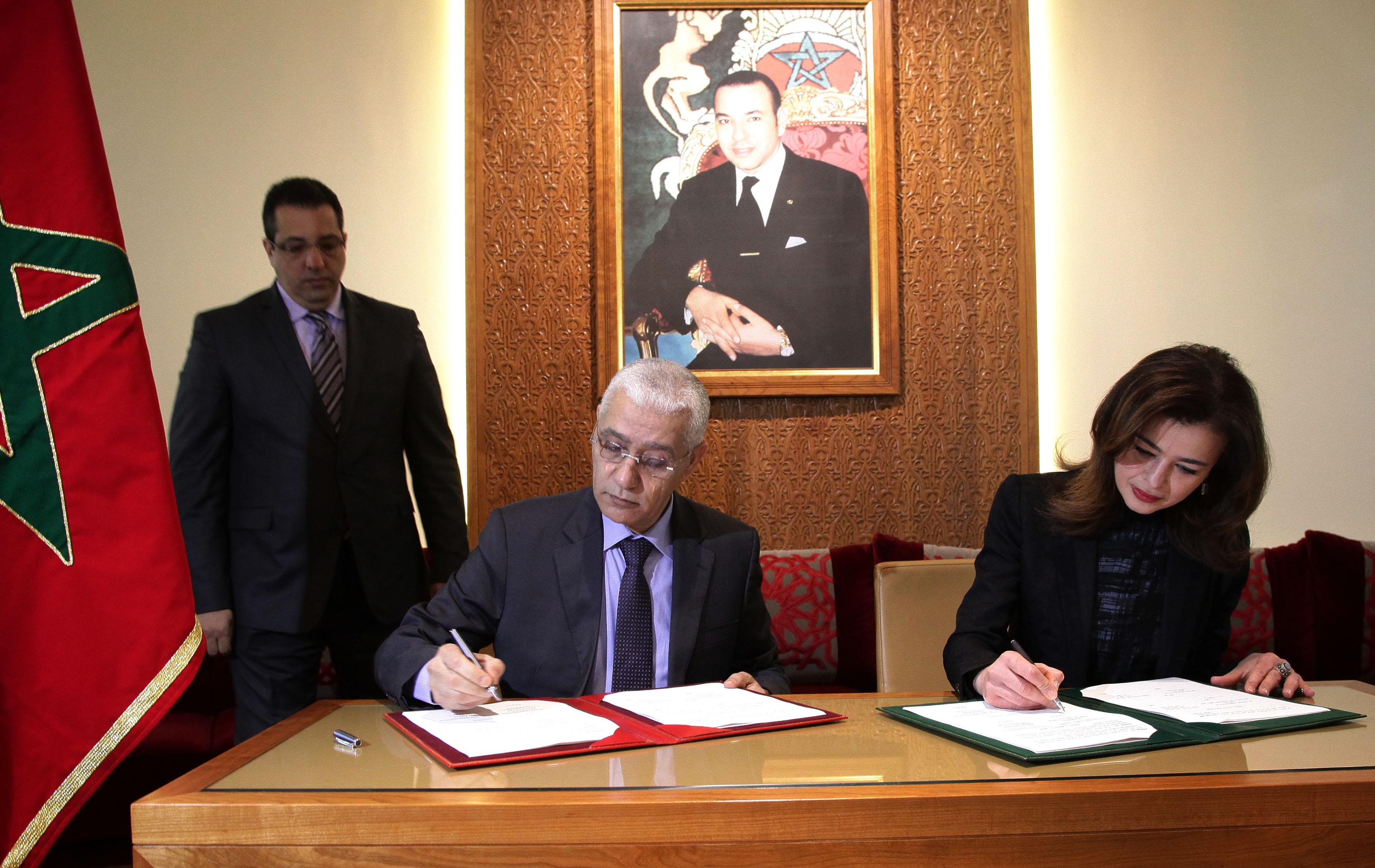 التوقيع على اتفاقية اطار للشراكة بين مجلس النواب المغربي ومؤسسة وستمنستر للديمقراطية.