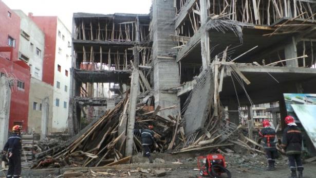 فاس…انهيار بناية من اربع طوابق