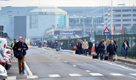 اعتداءات إرهابية تستهدف مطار بروكسل ومحطات للميترو : الإرهاب يضرب قلب العاصمة الأوروبية