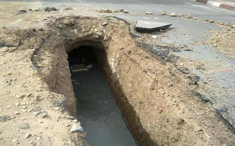 ساكنة بلدية ميضار مستاءة من أشغال الصرف الصحي