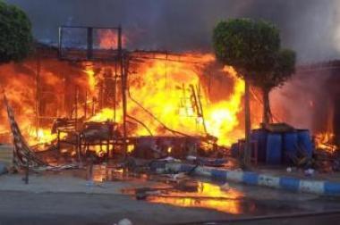 سوق الجملة بسلا يهتز على ايقاع اخطر حريق