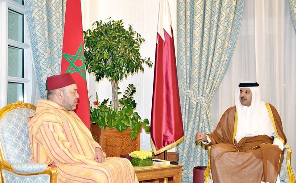 استقبال تاريخي لأمير قطر للملك محمد السادس+ الصور