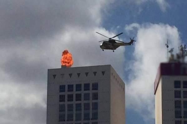 """فك اللغز طائرة العسكرية التي حلقت فوق """"توين سانتر"""" بالدا البيضاء"""