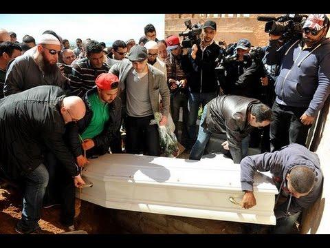 """تشييع جنازة المغربية """"لبنى لفقيري"""" ضحية هجمات بروكسيل في غياب الوزير بيرو"""