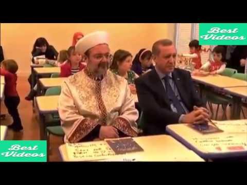 أردوغان يبكي أثناء إلقاء تلميذة تركية في أمريكا لقصيدة عن الرسول