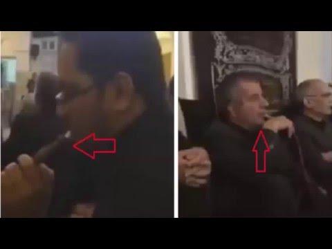 صــادم بالفيديو شيشة وسط المسجد