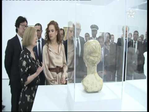 أناقة للا سلمى تخطف الانظار في متحف محمد السادس