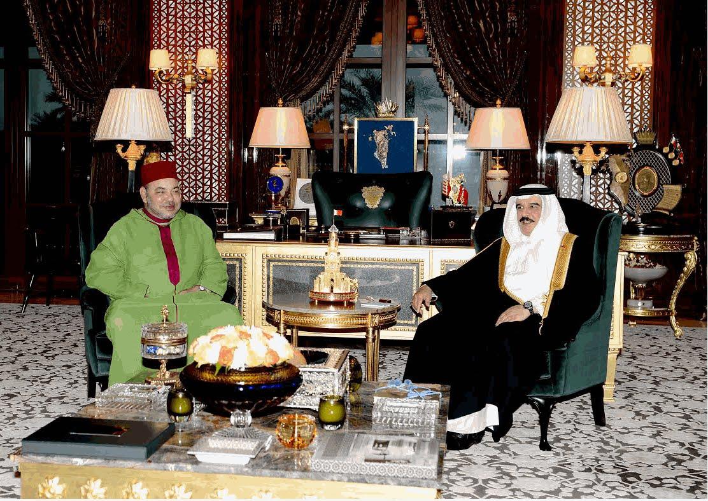 مباحثات بين الملك محمد السادس وعاهل البحرين