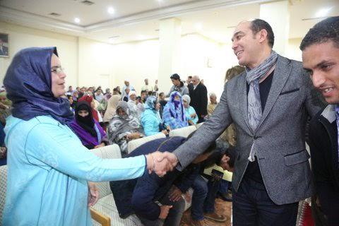 بالصور: شبيبة تزنيت تستقبل اوزين بالحليب والثمر