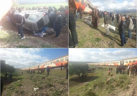 قطار يدهس سيارة هولاندي ويتسبب في مقتله بواد أمليل