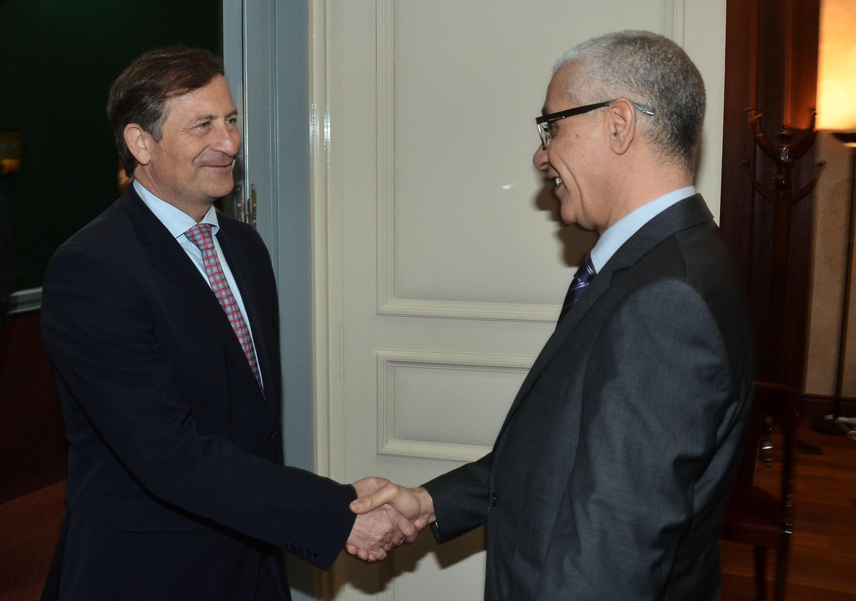 رئيس مجلس النواب يستقبل نائب الوزير الأول ووزير الخارجية السلوفيني.