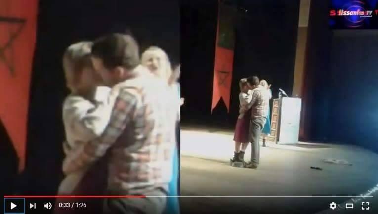 """فضيحة: مهرجان فاس للمسرح الجامعي كاين غير تبادل """" القبل"""" + صور"""