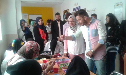 بالصور: زيارة حاتم عمور للمركب الاجتماعي ابتسامة بالصويرة