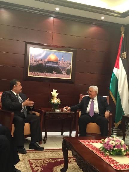 الرئيس الفلسطيني يخصص لحميد شباط استقبال خاص ويشيد بدور الملك في القضية الفلسطينية