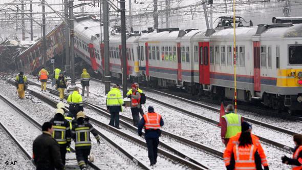 اصطدام قطارين جنوب بلجيكا