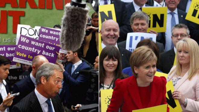 بريطانيا تتجه إلى الإبقاء على عضويتها في الاتحاد الأوروبي مع انتهاء الاستفتاء