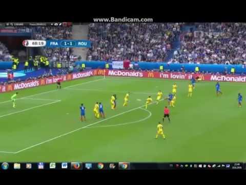 هدف بايت فرنسا رومانيا 2-1 يورو 2016