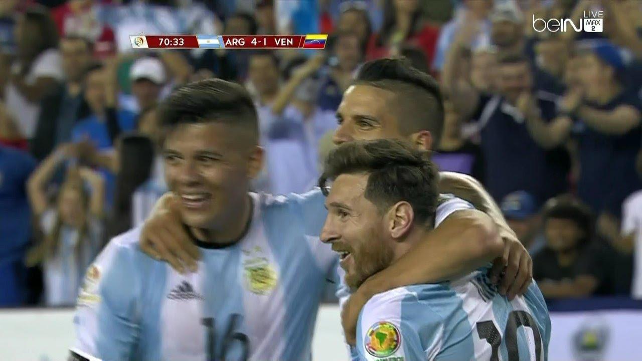 اهداف مباراة الأرجنتين و فنزويلا 4-1
