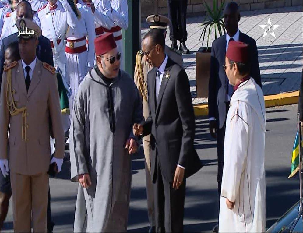 الاستقبال الرسمي للملك لرئيس جمهورية رواندا
