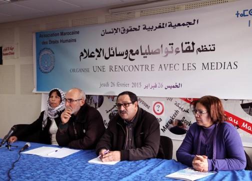 """الجمعية المغربية لحقوق الانسان ديال النهج تمارس """"الانتقائية"""" حتى  في التضامن"""