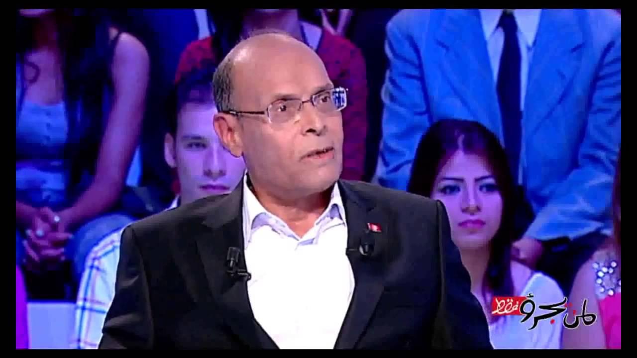 المرزوقي يهاجم مقدم برنامج و يلقنه اللغة العربية على أصولها