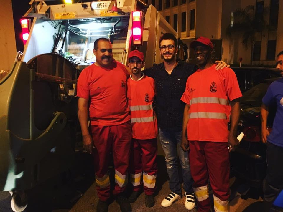 سعد لمجرد يوجه تحية لعمال النظافة بالمغرب