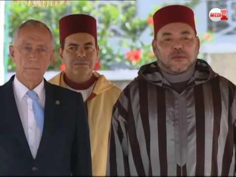 الملك يترأس حفل استقبال رسمي على شرف رئيس الجمهورية البرتغالية
