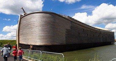 افتتاح النموذج الأميركي المشابه لسفينة نبي الله نوح