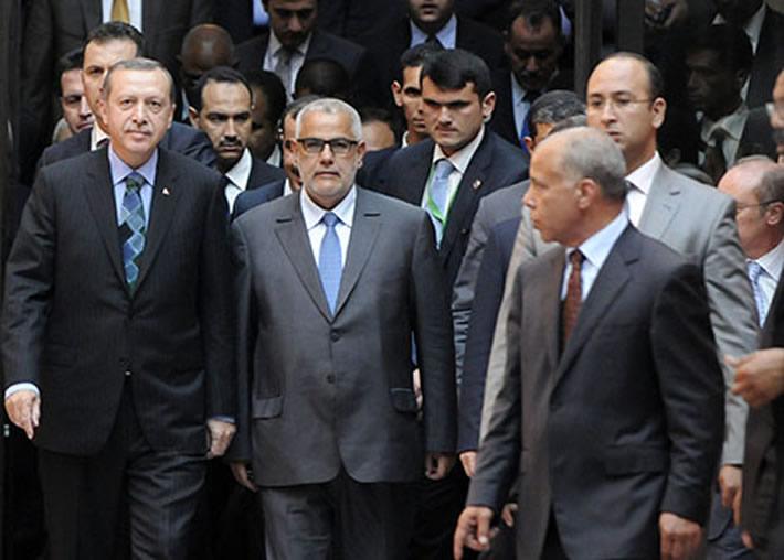 بن كيران يغازل أردوغان ويبعث برسالة اليه  بعد المحاولة الانقلابية في تركيا