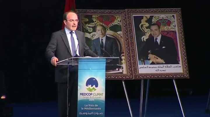 الياس العماري يقرأ الرسالة الملكية بمناسبة الدورة الثانية لمؤتمر  المتوسط للمناخ