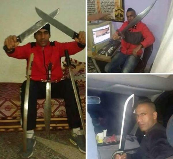 أمن فاس يوقف شخص تم نشر صوره ويحمل سكاكين